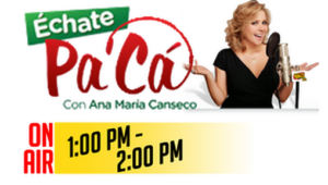 Echate Pa Ca Con Ana Maria Canseco en Greenville, SC